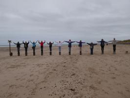 Unsere Gruppe auf der Findhorn Bay