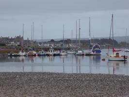 Der Ort Findhorn mit Hafen