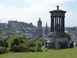 Carlton Hill mit Blick Richtung Edinburgh Castle